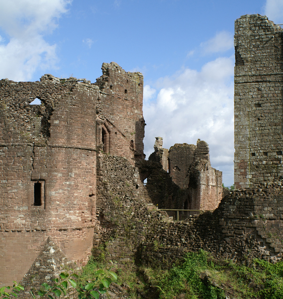 An ancient castle ruin on a sunny day