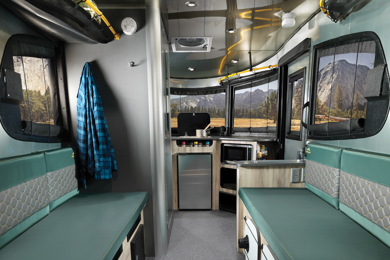 A luxury interior in a motorhome