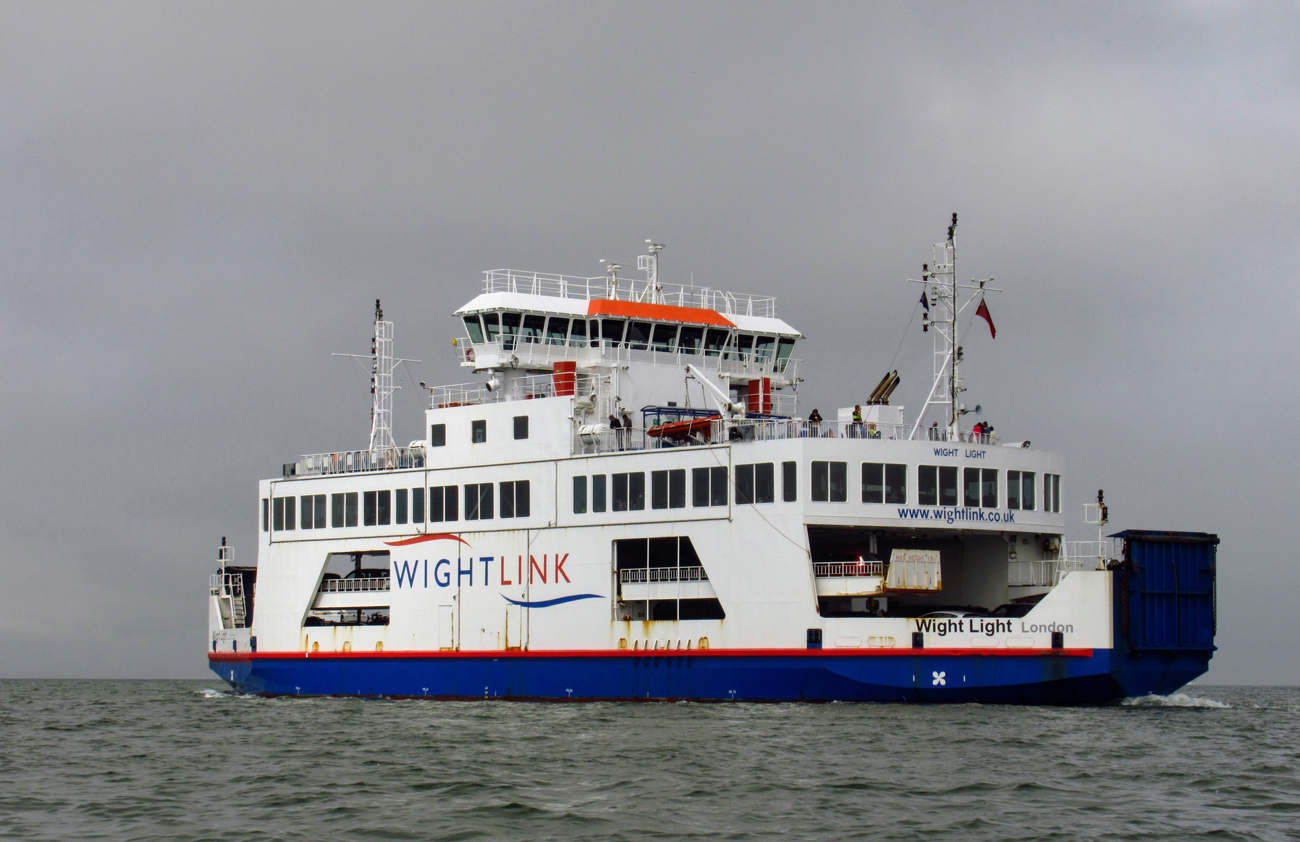 A Wight Link ferry crossing the sea to the Isle of Wight